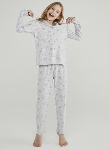 Penti Açık Gri Melanj Teen Galaxy 2Li Pijama Takımı Gri